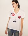 ARMANI EXCHANGE ABSTRACT FACE LOGO TEE Graphic T-shirt Woman f
