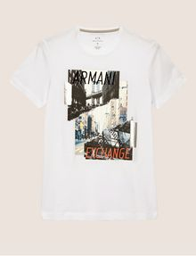ARMANI EXCHANGE TORN CITYSCAPE SLIM LOGO TEE Graphic T-shirt [*** pickupInStoreShippingNotGuaranteed_info ***] r