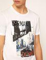 ARMANI EXCHANGE T-SHIRT SLIM CON STAMPA DI PAESAGGIO URBANO E LOGO EFFETTO STRAPPATO T-shirt senza logo Uomo b
