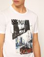 ARMANI EXCHANGE TORN CITYSCAPE SLIM LOGO TEE Graphic T-shirt Man b