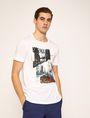 ARMANI EXCHANGE T-SHIRT SLIM CON STAMPA DI PAESAGGIO URBANO E LOGO EFFETTO STRAPPATO T-shirt senza logo Uomo f