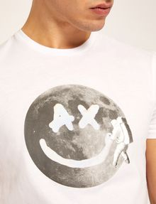 ARMANI EXCHANGE SMILES FROM SPACE SLIM LOGO TEE Graphic T-shirt Man b