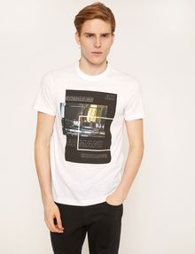 ARMANI EXCHANGE BLURRED TRAFFIC SLIM LOGO TEE Graphic T-shirt Man f