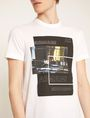 ARMANI EXCHANGE BLURRED TRAFFIC SLIM LOGO TEE Graphic T-shirt Man b
