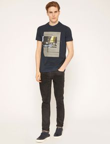 ARMANI EXCHANGE BLURRED TRAFFIC SLIM LOGO TEE Graphic T-shirt Man d