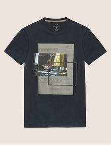 ARMANI EXCHANGE T-SHIRT SLIM CON STAMPA URBANA E LOGO EFFETTO SFOCATO T-shirt senza logo Uomo r