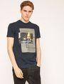 ARMANI EXCHANGE T-SHIRT SLIM CON STAMPA URBANA E LOGO EFFETTO SFOCATO T-shirt senza logo Uomo f