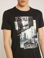 ARMANI EXCHANGE TORN CITYSCAPE SLIM LOGO TEE Non-logo Tee Man b