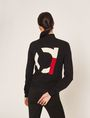 ARMANI EXCHANGE INTARSIA-BACK ZIP-UP SWEATER JACKET Cardigan Woman e