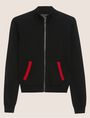 ARMANI EXCHANGE INTARSIA-BACK ZIP-UP SWEATER JACKET Cardigan Woman r