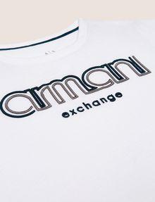 ARMANI EXCHANGE BOYS SLIM-FIT EMBROIDERED LOGO TEE Logo T-shirt Man d