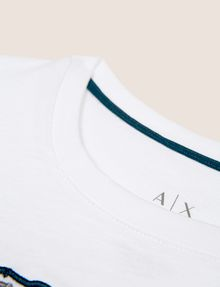 ARMANI EXCHANGE BOYS SLIM-FIT EMBROIDERED LOGO TEE Logo T-shirt [*** pickupInStoreShippingNotGuaranteed_info ***] e