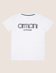 ARMANI EXCHANGE BOYS SLIM-FIT EMBROIDERED LOGO TEE Logo T-shirt [*** pickupInStoreShippingNotGuaranteed_info ***] f