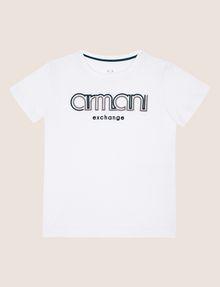 ARMANI EXCHANGE BOYS SLIM-FIT EMBROIDERED LOGO TEE Logo T-shirt Man f