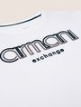 ARMANI EXCHANGE BOYS SLIM-FIT EMBROIDERED LOGO TEE Logo T-shirt [*** pickupInStoreShippingNotGuaranteed_info ***] d