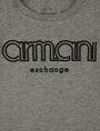 ARMANI EXCHANGE BOYS SLIM-FIT EMBROIDERED LOGO TEE Logo T-shirt Man e