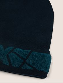 ARMANI EXCHANGE FRACTURED LOGO KNIT BEANIE Hat Man d