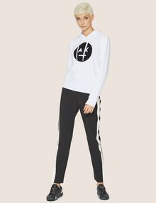 ARMANI EXCHANGE A|X EMOJI LOGO HOODIE Fleece Top Woman d