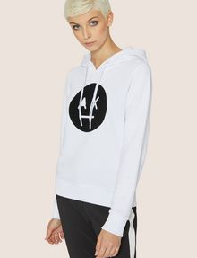 ARMANI EXCHANGE A|X EMOJI LOGO HOODIE Fleece Top Woman f