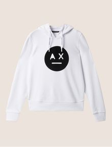 ARMANI EXCHANGE A|X EMOJI LOGO HOODIE Fleece Top Woman r