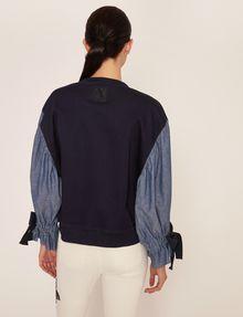 ARMANI EXCHANGE DENIM SLEEVE SWEATSHIRT TOP Sweatshirt Woman e