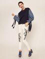 ARMANI EXCHANGE DENIM SLEEVE SWEATSHIRT TOP Sweatshirt Woman a