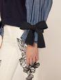 ARMANI EXCHANGE DENIM SLEEVE SWEATSHIRT TOP Sweatshirt Woman b