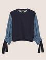 ARMANI EXCHANGE DENIM SLEEVE SWEATSHIRT TOP Sweatshirt Woman r