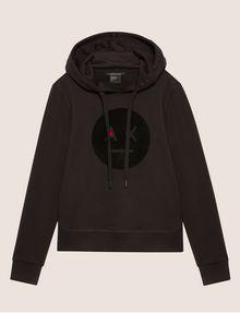 ARMANI EXCHANGE A|X EMOJI LOGO HOODIE Sweatshirt Woman r