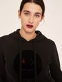 ARMANI EXCHANGE A|X EMOJI LOGO HOODIE Sweatshirt Woman b