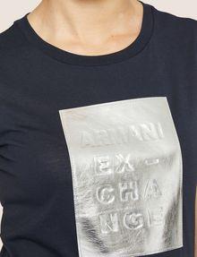 ARMANI EXCHANGE METALLIC EMBOSSED LOGO TEE Logo T-shirt Woman b