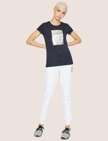 ARMANI EXCHANGE METALLIC EMBOSSED LOGO TEE Logo T-shirt Woman d