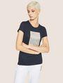 ARMANI EXCHANGE METALLIC EMBOSSED LOGO TEE Logo T-shirt Woman f