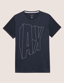 ARMANI EXCHANGE COMIC CAPTION LOOSE LOGO TEE Logo T-shirt Man r