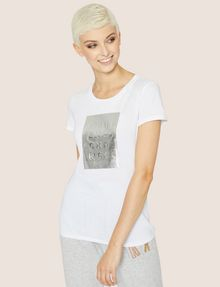 ARMANI EXCHANGE METALLIC EMBOSSED LOGO TEE Logo T-shirt Woman f