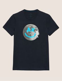 ARMANI EXCHANGE SMILES FROM SPACE SLIM LOGO TEE Logo T-shirt Man r
