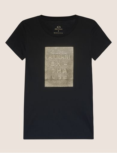 METALLIC EMBOSSED LOGO TEE