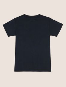 ARMANI EXCHANGE BOYS SLIM-FIT FACE FROM SPACE TEE Logo T-shirt Man r