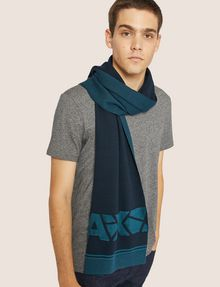 ARMANI EXCHANGE FRACTURED LOGO RECTANGULAR SCARF Scarf [*** pickupInStoreShippingNotGuaranteed_info ***] r