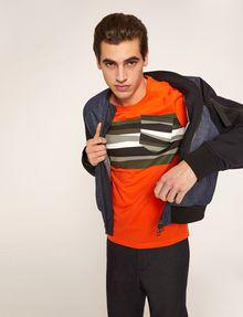 ARMANI EXCHANGE FAUX POCKET SLIM LOGO TEE Graphic T-shirt Man a