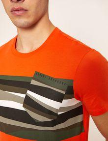 ARMANI EXCHANGE FAUX POCKET SLIM LOGO TEE Graphic T-shirt Man b