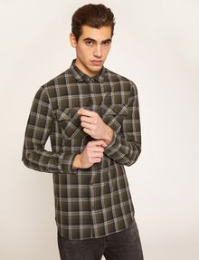ARMANI EXCHANGE REGULAR-FIT PLAID WORK SHIRT Checked Shirt Man f