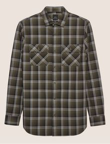 ARMANI EXCHANGE REGULAR-FIT PLAID WORK SHIRT Checked Shirt Man r