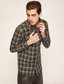 ARMANI EXCHANGE REGULAR-FIT PLAID WORK SHIRT Checked Shirt Man a