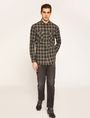 ARMANI EXCHANGE REGULAR-FIT PLAID WORK SHIRT Checked Shirt Man d