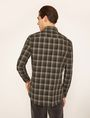 ARMANI EXCHANGE REGULAR-FIT PLAID WORK SHIRT Checked Shirt Man e