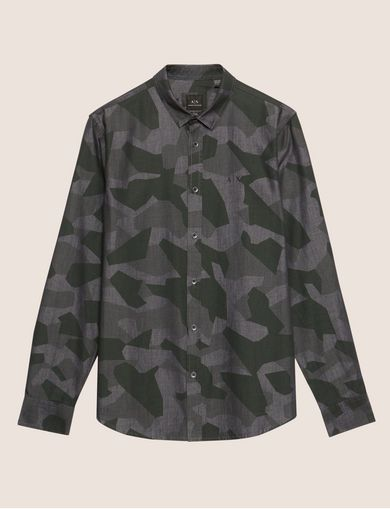 REGULAR-FIT GEO CAMO SHIRT