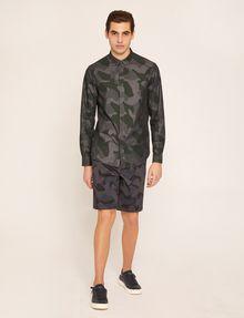 ARMANI EXCHANGE REGULAR-FIT GEO CAMO SHIRT Long sleeve shirt Man d