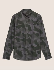 ARMANI EXCHANGE REGULAR-FIT GEO CAMO SHIRT Long sleeve shirt Man r