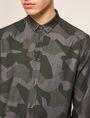 ARMANI EXCHANGE REGULAR-FIT GEO CAMO SHIRT Printed Shirt Man b